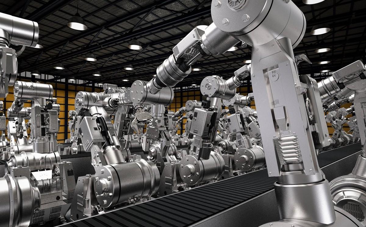 Industrieschmierstoffe im Einsatz bei Fertigungsrobotern